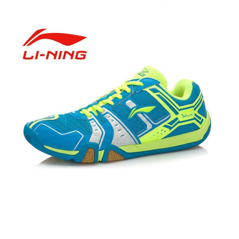 Li-ning hombres portátiles resistentes al desgaste Zapatillas de bádminton Li Ning antideslizante amortiguación Encaje al aire libre deportes sneakers aytm085