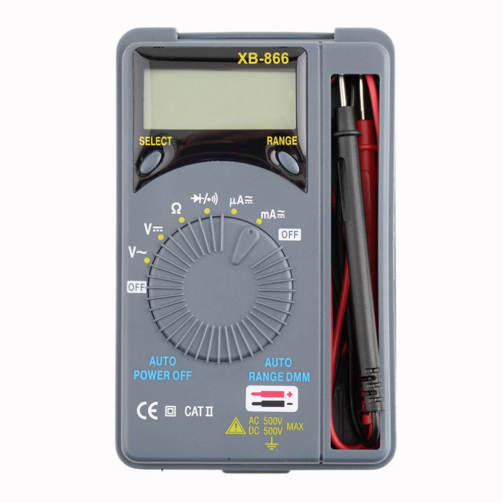 1 pc En Gros Mini Auto Range LCD Voltmètre Testeur Outil AC/DC Pocket Multimètre Numérique