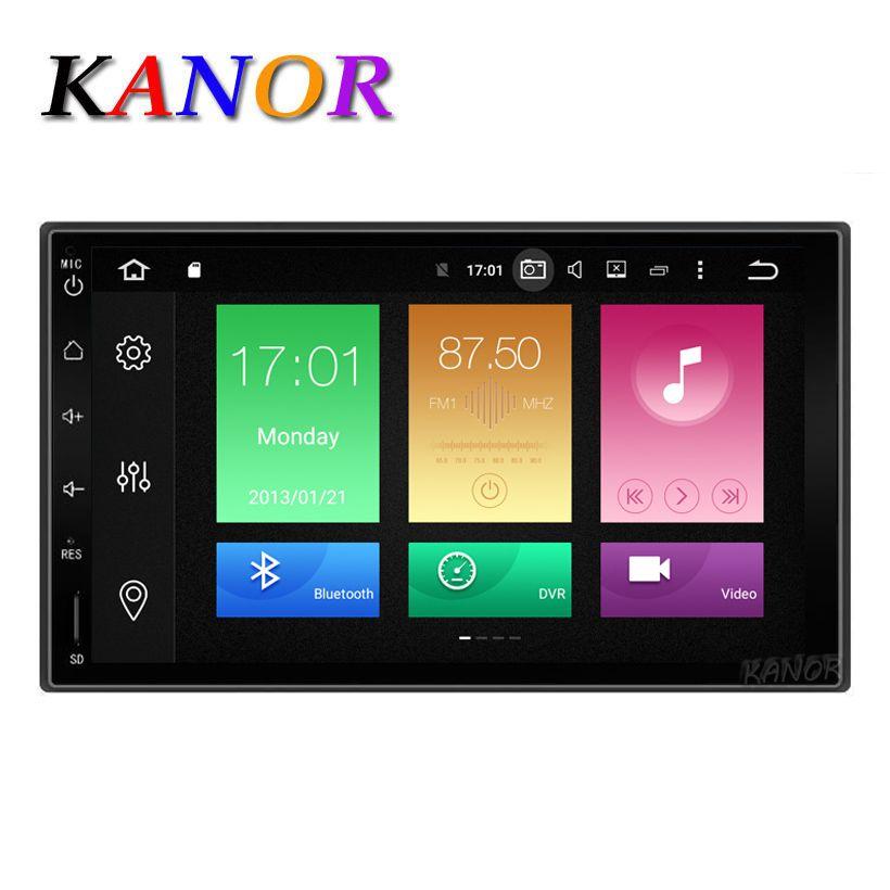 Kanor Восьмиядерный Оперативная память 4 г Встроенная память 32 г 2 DIN Android 8.0 Аудиомагнитолы автомобильные стерео Радио с GPS Wi-Fi Универсальный GPS ...