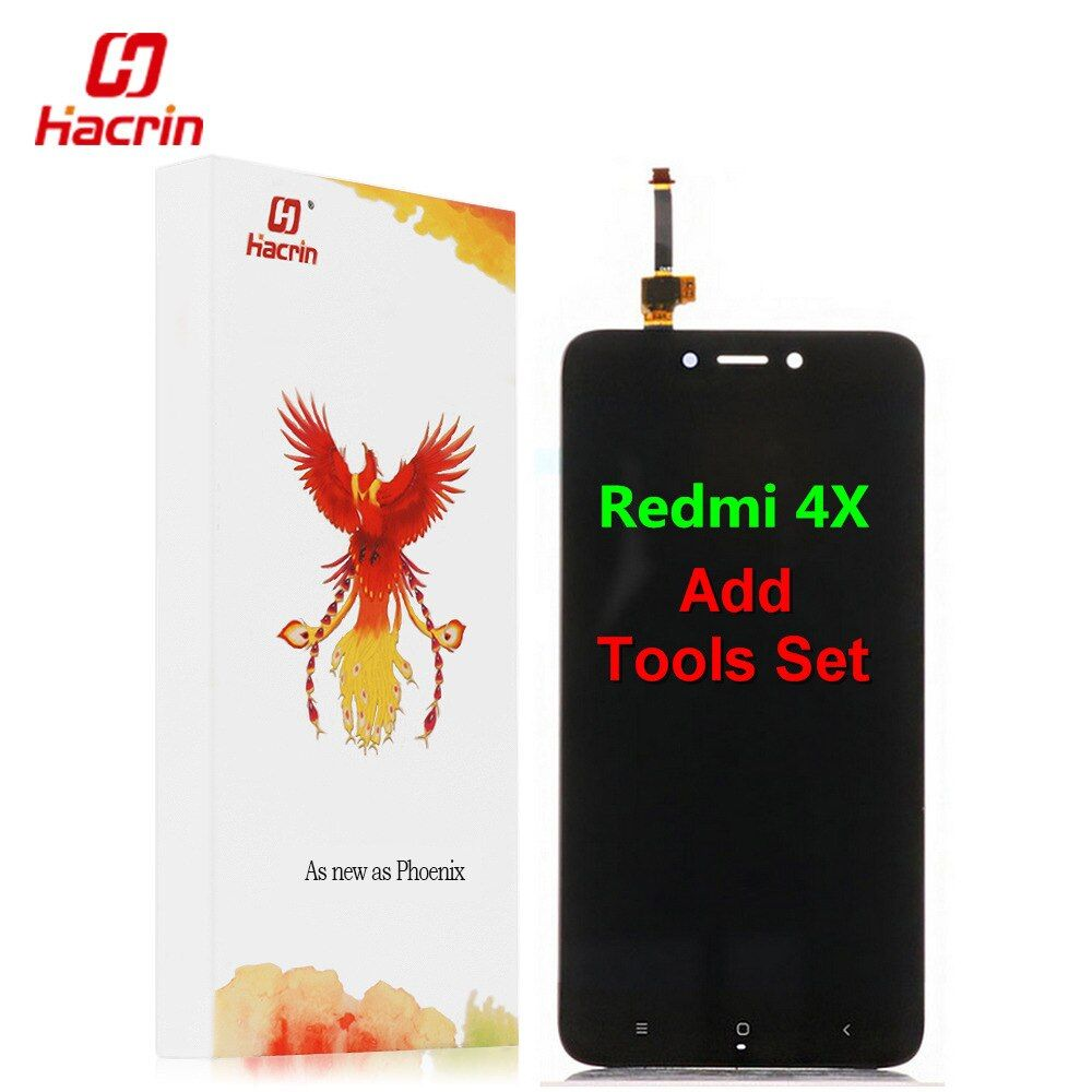 Xiaomi Redmi 4X LCD Affichage Écran Tactile Bon Test Digitizer Assemblée Remplacement Pour Xiaomi Redmi 4X Pro Premier 5.0 pouces-Hacrin