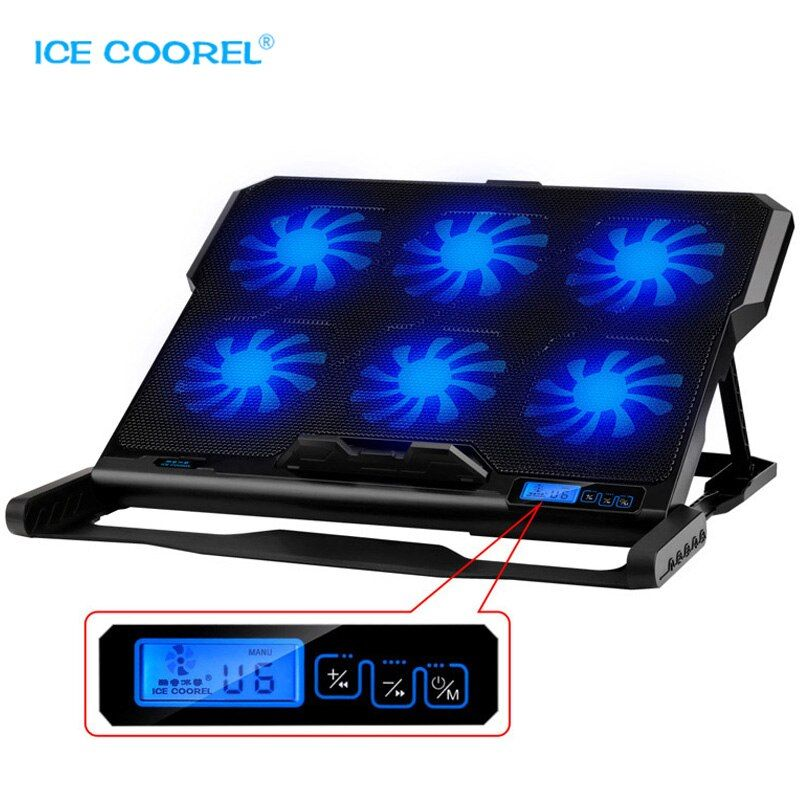 New Laptop cooler 2 USB Ports and Six cooling Fan laptop cooling pad Notebook Stand for 12-15.6 inch for Laptop