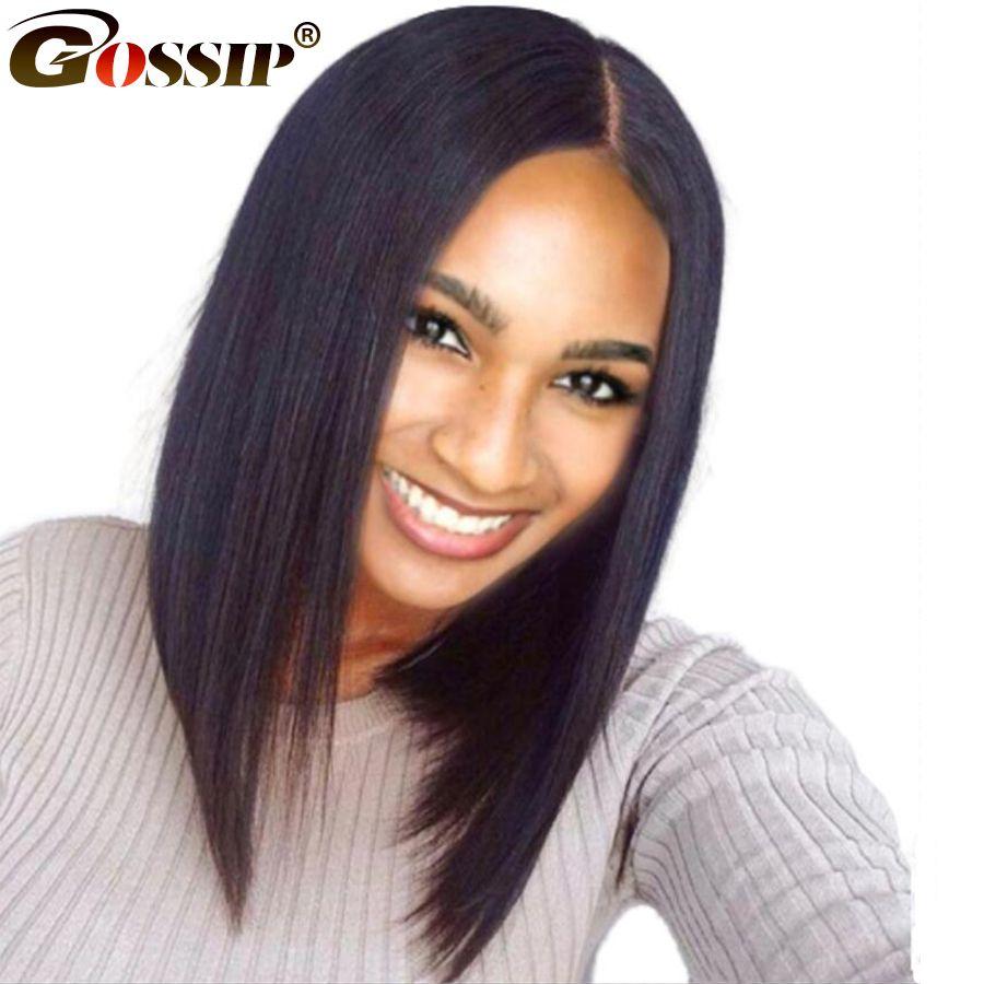 Short Human Hair Wigs Bob Wig Lace <font><b>Front</b></font> Human Hair Wigs For Black Women Brazilian Straight Bob Lace <font><b>Front</b></font> Wig Free Gift Remy
