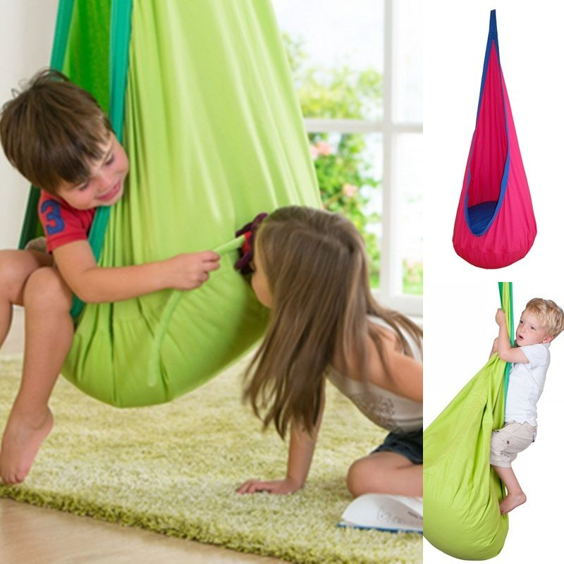 1 Piece Baby Swing Children Pod Hammock  Indoor Outdoor Hanging Chair Adult Hanging Seat Chair Nest Blue Green Orange