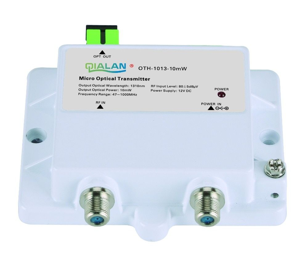 Mini Micro Optische Sender 1013-10mW FTTH 12V DC 1310nm 1550nm CATV mit SC APC Sender