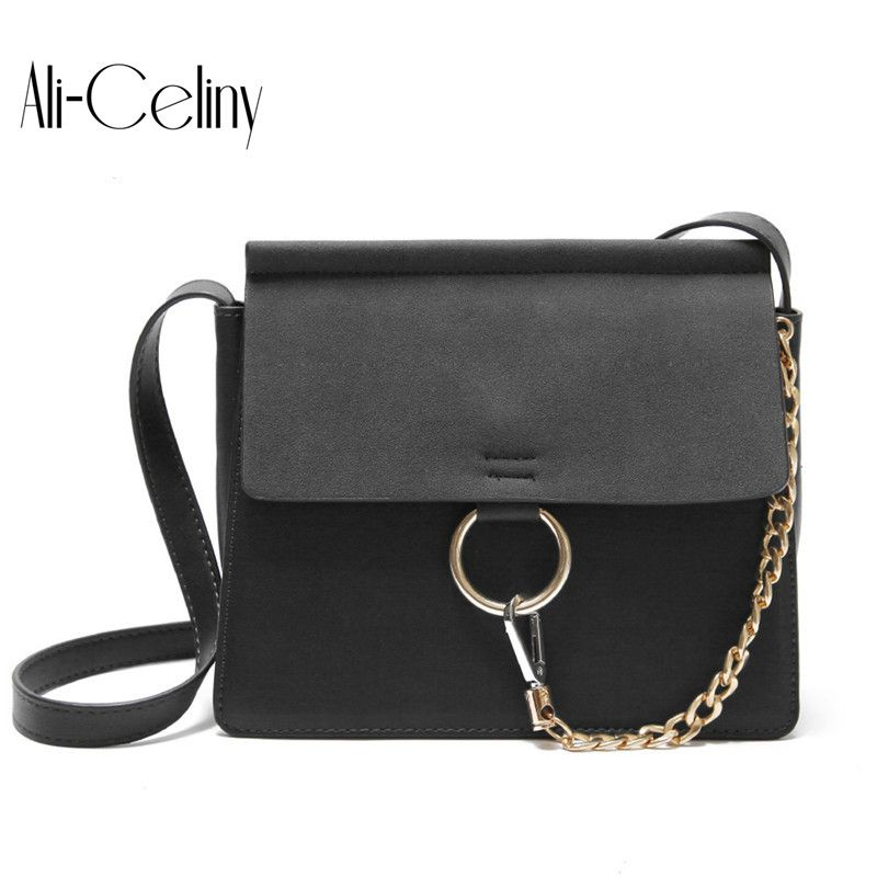 New Style famous brand Minimalist Crossbody Bag women Shoulderbag messenger diamond Chain Puzzle Ring bags for women