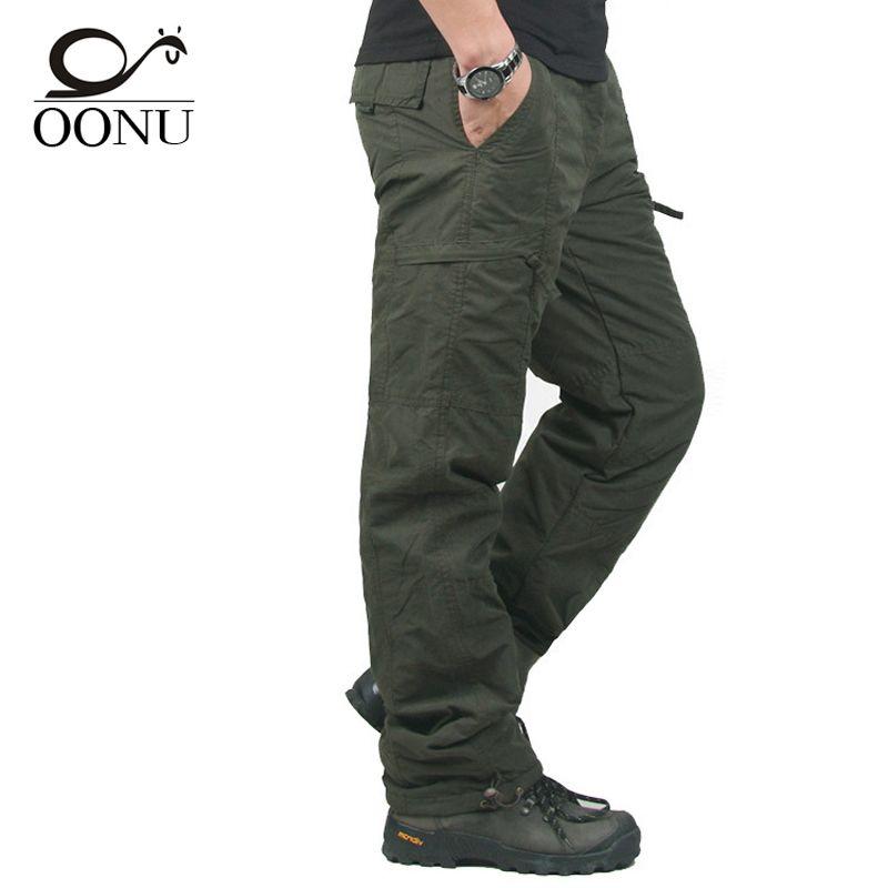 Winter Doppelschicht Dicke Männer Cargohose Beiläufige Warm Baggy Baumwolle Hosen Für männer Hosen Männliche Militärische Tarnung Taktische