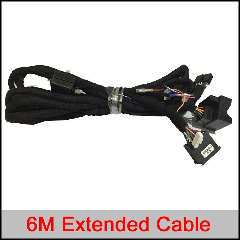 6M Extended line power cable for BMW E46/E39/E53 Series ; For Benz Series with car dvd gps player accessories