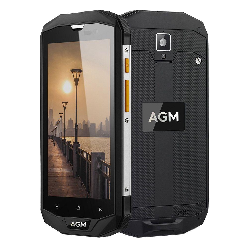 Original AGM A8 5.0'' IP68 4G Smartphone 4050mAh Android 7.0 MSM8916 Quad Core 3G+32G Waterproof Dustproof Mobile Phone 13MP NFC