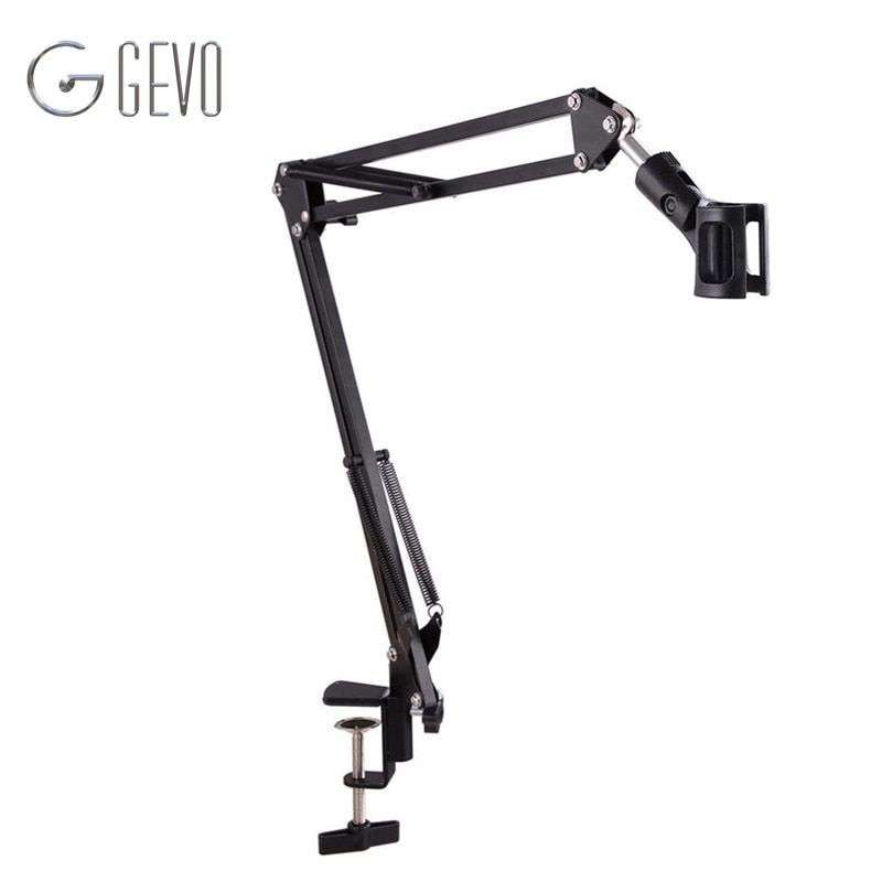 NB 35 Metal Extendable Recording Microphone Stand Tripod Boom Scissor Arm Holder With Microphone Clip Mounting Clamp