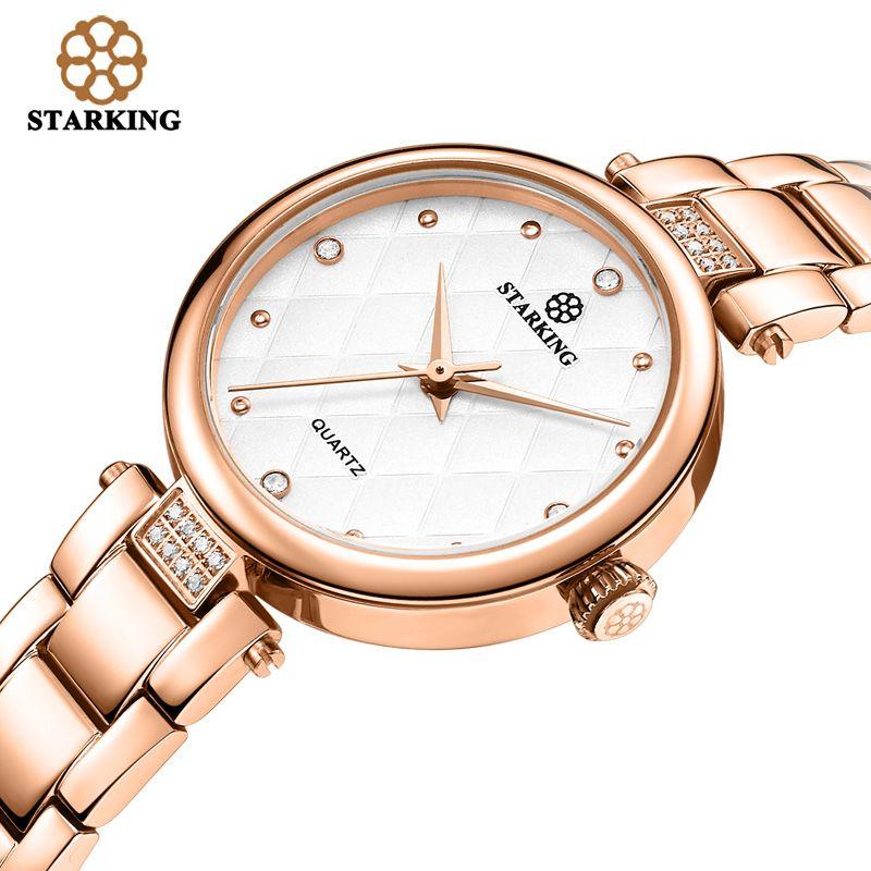 STARKING 2017 Fashion Women Dress Watches Luxury Women's Casual Ladies Rhinestone Quartz Watch Wristwatches Relogio Feminino