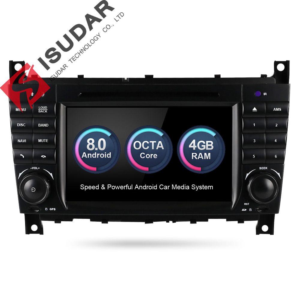 Isudar Car Multimedia Player GPS Android 8.0 Autoradio For Mercedes/Benz/Sprinter/W203/A180/Viano/Vito/A-class Radio FM DSP DVR