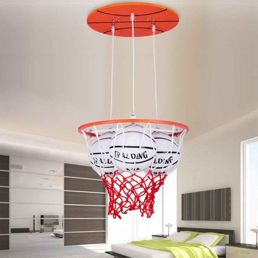3LED pendant lights Personality Boys Room luminarias Led modern lighting Basketball Childrens luminaria e27 220v for decor