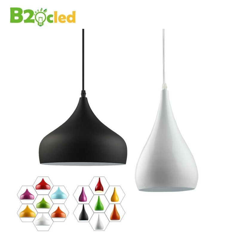 Modern fashion simple led pendant light lamp aluminum <font><b>hanging</b></font> room lamp for dining room Kitchen Restaurant Renovation Lampshade