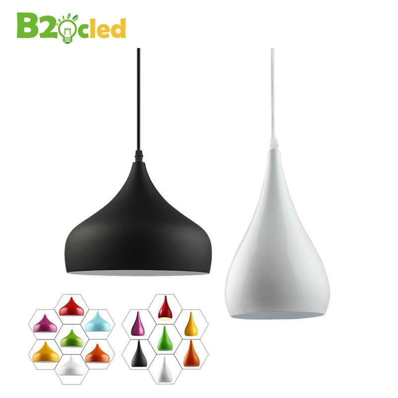 Modern fashion simple led pendant light lamp aluminum hanging room lamp for dining room Kitchen Restaurant Renovation Lampshade