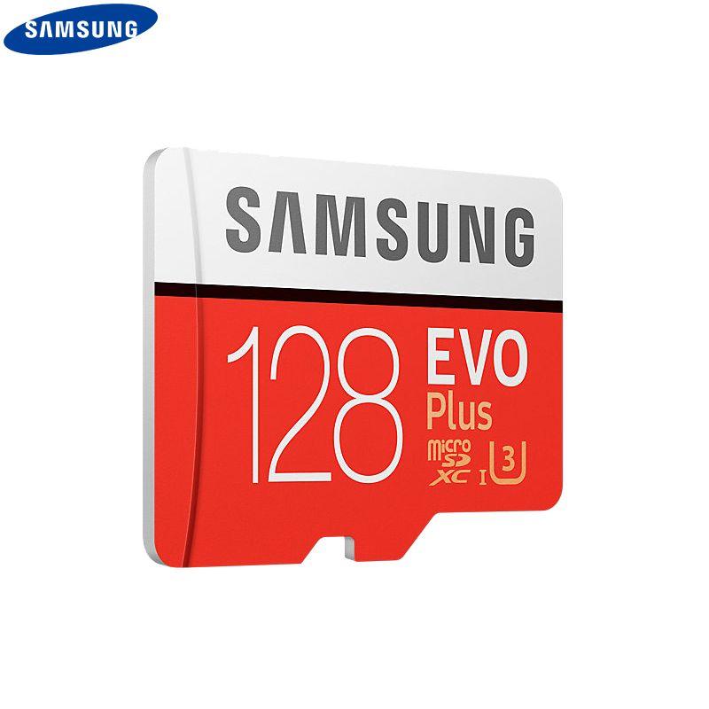 SAMSUNG 100% Original TF Micro SD Card memory Card MicroSD EVO Plus Class 10 Grade 3 32GB 64GB 128GB Smartphone Tablet Camera