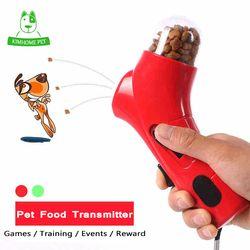 3 Cor Pet Food Transmissor Jogos Catapulta Brinquedos Interativos de Recompensa de Treinamento Ao Ar Livre Brinquedo Do Treinamento Do Cão Para Cão