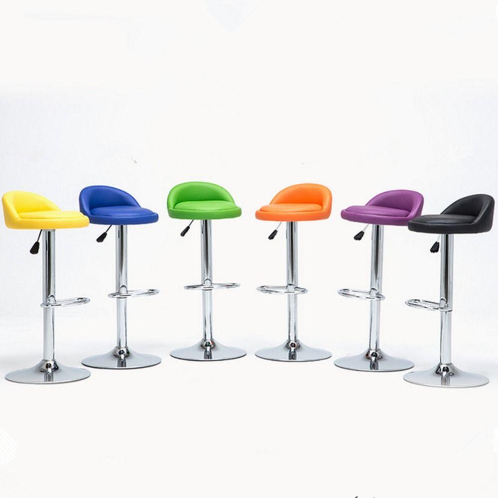 1 PC Swivel Bar Stool Modern Adjustable Height Metal Diner Seat Chair Hydraulic