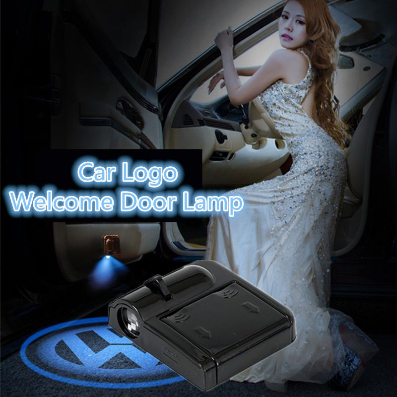 Black Car Styling Car Logo Welcome Door Laser Light Projector Ghost Shadow Door Laser Lamps Automatic Magnetic Induction Control