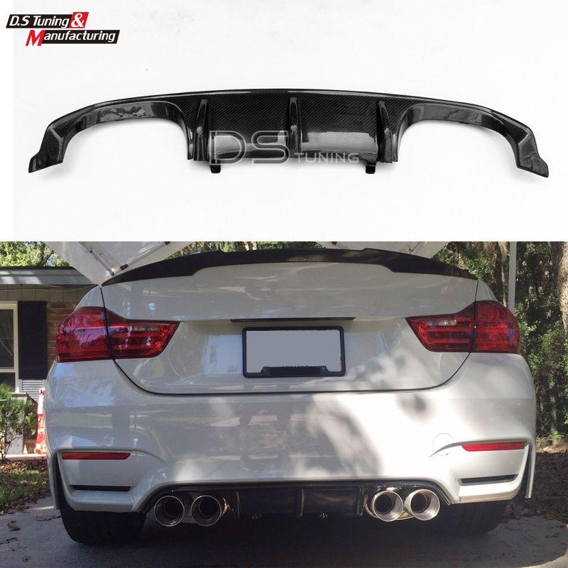 M3 M4 M-performance Style Carbon Fiber Rear Diffuser Bumper Lip For BMW M3 F80 M4 F82 F83 2015 - present