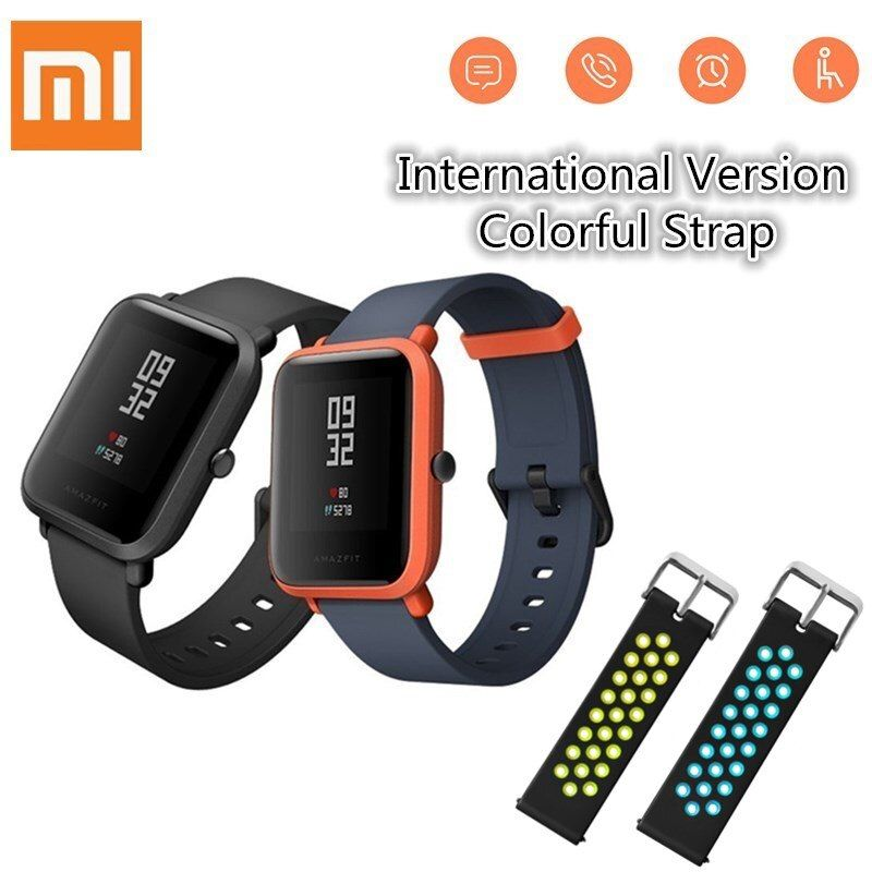 Huami Amazfit Smart Watch xiaomi smartwatch Bip Bit Face GPS Fitness Tacker Heart Rate <font><b>IP68</b></font> Waterproof support Drop Shipping
