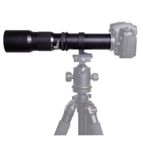 JinTu 500mm f/8,0 Teleobjektiv Kit für Sony E-Mount NEX3 NEX5 NEX6 NEX7 A5000 A6000 a6500 A7 A7S A7R A7M A9 SLR Kamera Schwarz