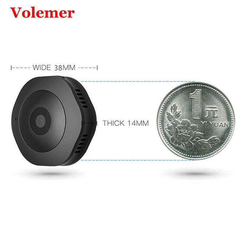 Volemer Full HD1080P IP Wifi Mini caméra CMOS IR Vision nocturne Micro caméra mouvement DV DVR caméscope petit enregistreur support magnétique
