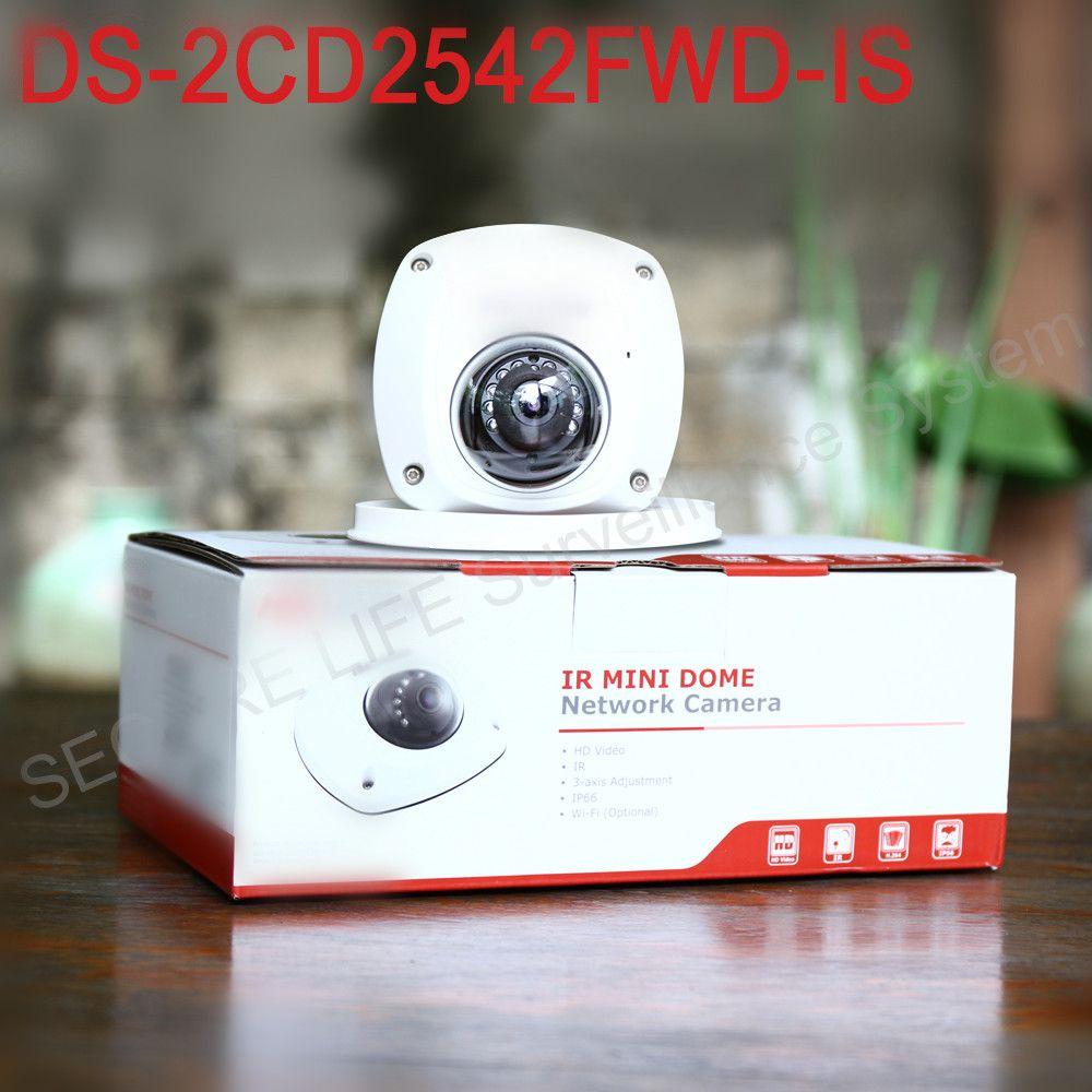 In stock HIKVISION English Version DS-2CD2542FWD-IS 4MP Mini Dome CCTV Camera POE WDR H.264+, non wifi, P2P mini ip camera