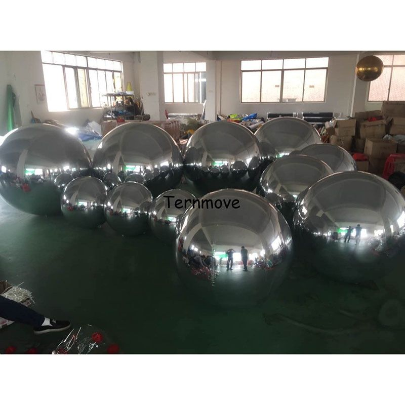 5 Colors Mirror Show Ball Reflective Giant Inflatable Mirror Ball Hot Sale Giant Inflatable Ball For Advertising