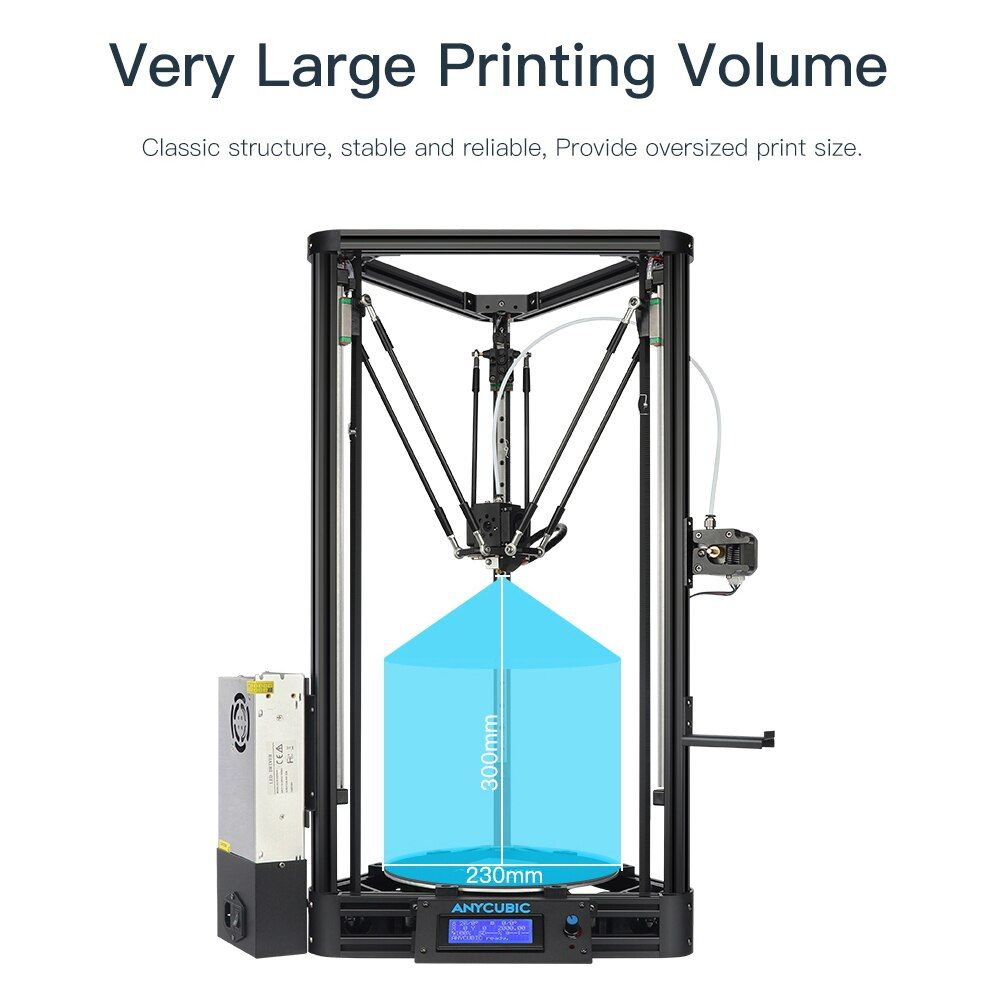 ANYCUBIC 3D Drucker Auto-Leveling Modul Delta Linear Plus Version Guide Plus Große Druck Größe Desktop 3D Impressora Diy kit