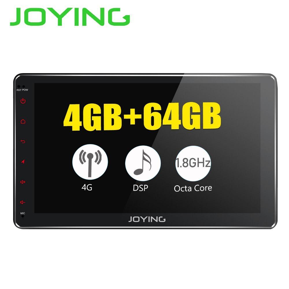 JOYING Android 8.1 2 din auto radio octa Core 4 GB + 64 GB Ips-bildschirm errichtet in 4G & DSP Android auto Carplay Schnelle Boot GPS autoradio BT
