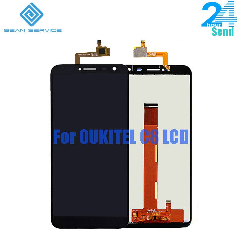 For Original <font><b>Oukitel</b></font> C8 LCD Display Screen+Touch Screen Digitizer Assembly Replacement 18:9 Display 5.5 inch Stock