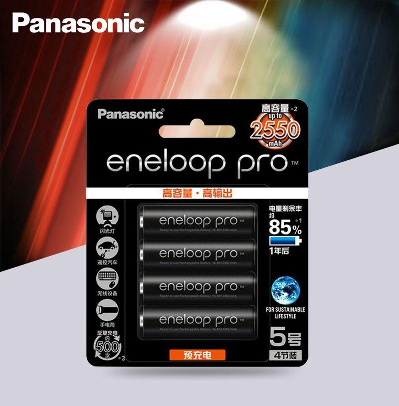 Panasonic batterie d'origine Pro AA 2550mAh 1.2V NI-MH caméra lampe de poche jouet Batteries rechargeables préchargées