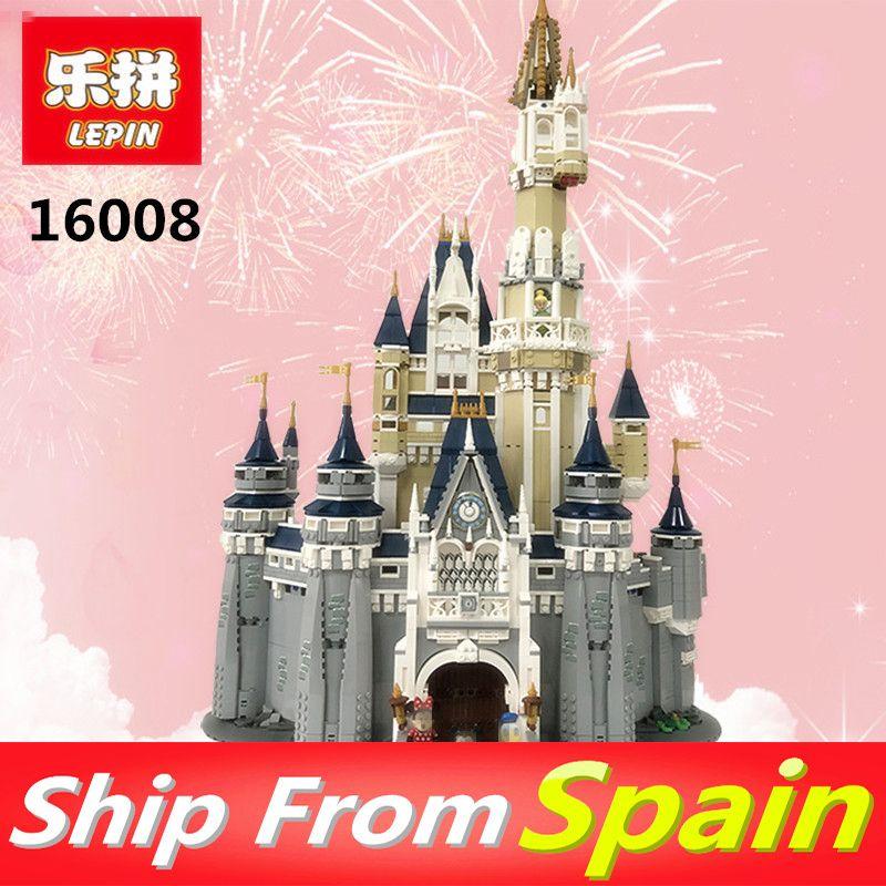 Ship From Spain Lepin 16008 Princess Castle City Model Building Blocks 4080pcs Girls Gift Legoing 71040