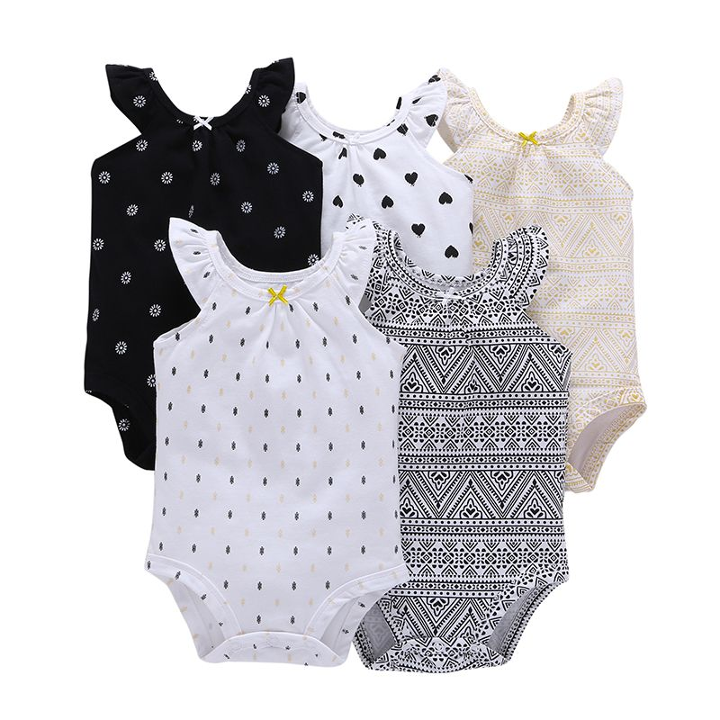 2018 New Arrivals Baby Clothing Rompers Baby Girl's Newborn Sleeveless O-Neck Vest Type Climbing Cotton Fashion  Clothes