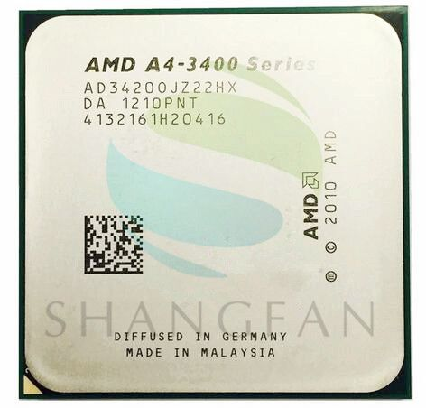 AMD A4-Series A4-3420 A4 3420 2.8 GHz Dual-Core CPU Processor AD3420OJZ22HX Socket FM1