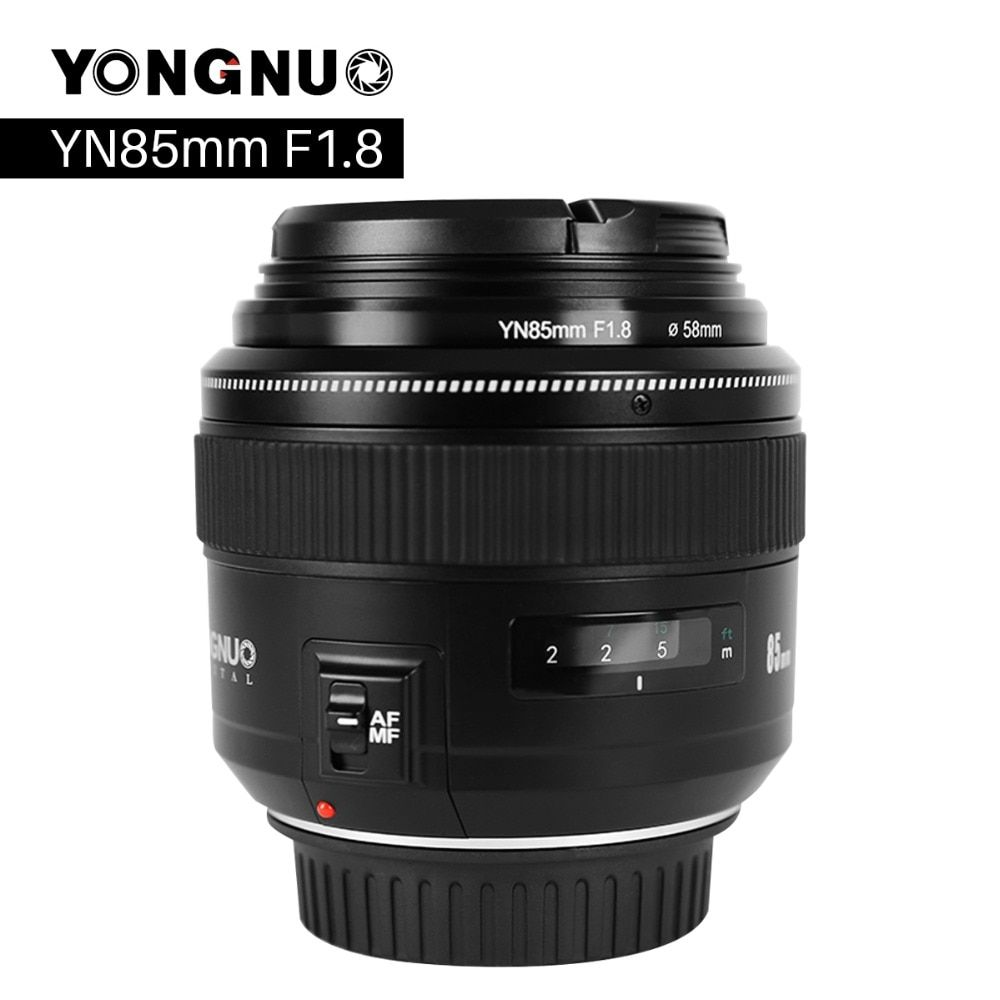 YONGNUO YN85mm F1.8 Camera Lens for Canon EF Mount EOS 85mm AF/MF Standard Medium Telephoto Lenses Fixed Focal Camera Lens
