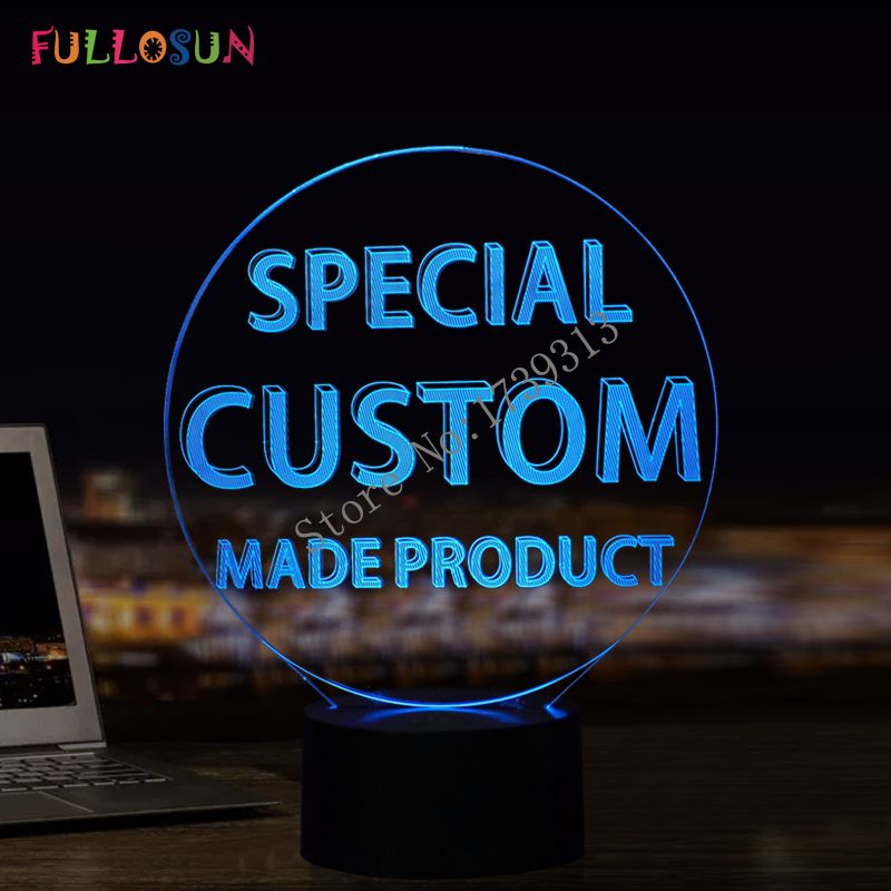 Customer Unique Customize 3D Lamp Colorful Lights for Gift & Droshipping
