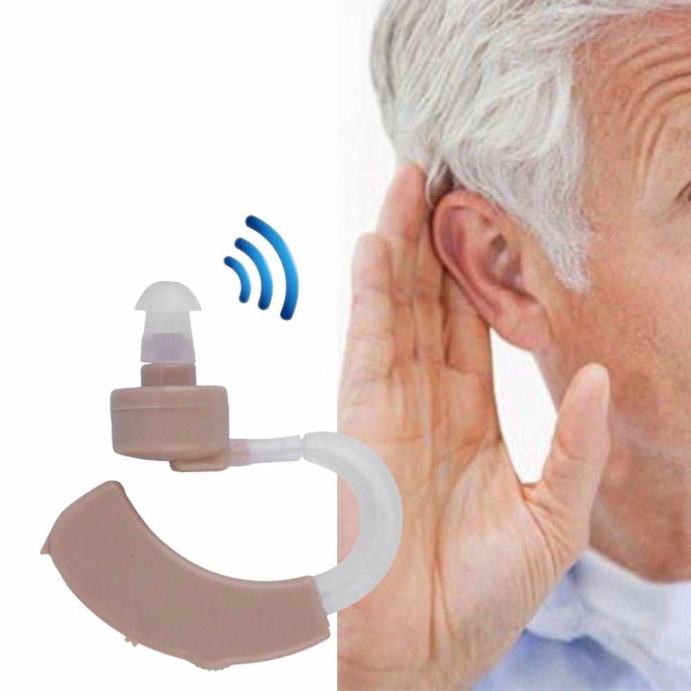 Günstigste Mini Digitales Hörgerät Enhancer Hinter Die Ear Sound-verstärker Einstellbare Hörgeräte Für Ältere menschen Taub Pflege
