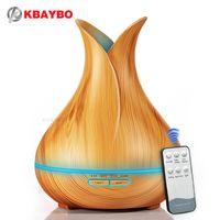 400 мл Аромат эфирного масла диффузор ультразвуковой увлажнитель воздуха с древесины 7 цветов Изменение светодиодные фонари для Office для дома