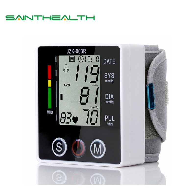 <font><b>Health</b></font> Care new tensiometro digital Blood Pressure Monitor Wrist tonometer Automatic Sphygmomanometer BP Blood Pressure Meter