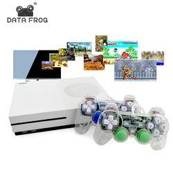 Rana de datos HD Consolas de Juegos de TV 4 GB Consola de Videojuegos soporte HDMI Salida de TV Incorporado 600 Juegos Clásicos Para GBA/SNES/SMD/NES formato