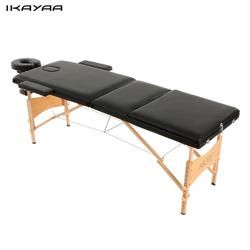 3 Fold Portable Table De Massage Thérapie Réglable Lit De Massage Facial SPA Lit De Tatouage Dispositif De Salon De Beauté