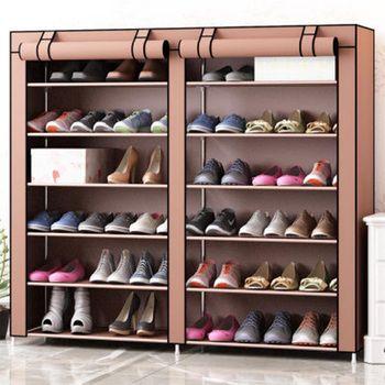 Двухрядные 12 сетчатые туфли, шкаф, простая мебель для хранения дома, большая емкость, экономия пространства, влагостойкая полка для обуви в ...