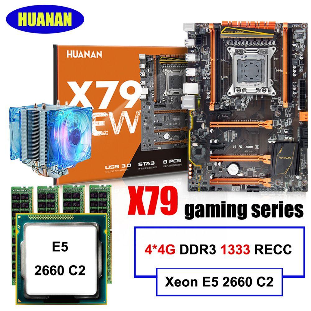 Gaming computer montage HUANAN ZHI rabatt deluxe X79 motherboard mit M.2 slot CPU Intel Xeon E5 2660 C2 kühler RAM 16G (4*4G)