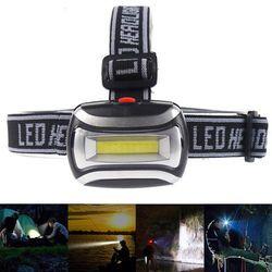 ZK20 Kualitas Tinggi Mini Plastik 600Lm LED Lampu Depan Kepala Lampu Lampu Senter 3AAA Obor untuk Camping Hiking Memancing