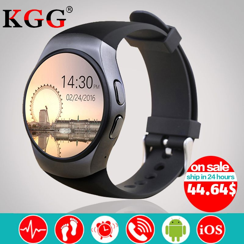 KW18 Smart Watch Support SIM TF Card Heart Rate Monitor MTK2502 Smart sport watch for Android IOS Phone with Box