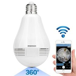 2018 NEW 960P Bulb Light Wireless IP Camera Wi-fi FishEye 360 degree Mini CCTV VR Camera 1.3MP Home Security by phone