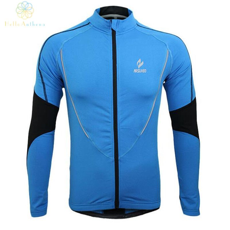Winter Clothing Cycling Running Zip Fleece Men Long Sleeve Coat Jackets Outdoors Sports Fitness Tights 2016 Thermal Jersey 2017
