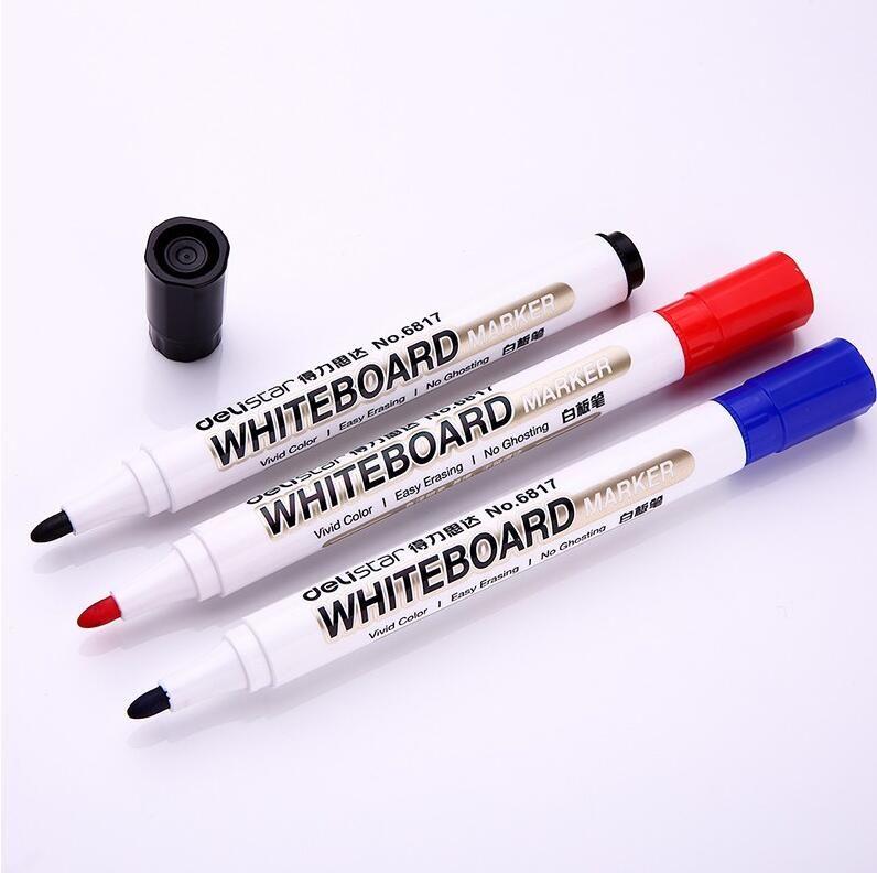 Deli 10 pièce/lot fournitures scolaires et de bureau rouge bleu noir vert effaçable tableau blanc marqueur stylo papeterie en gros