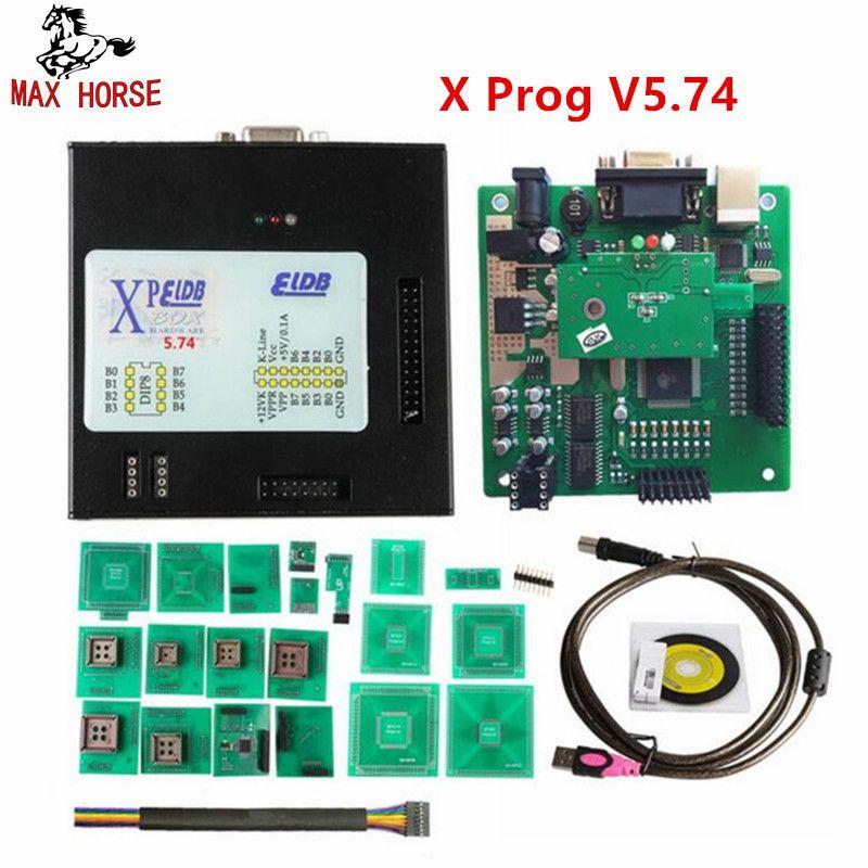 Hot Newest Xprog M V5.74 New Generation Released X-PROG M Metal Box ECU Programmer with USB Dongle X PROG ECU Flasher Tool